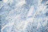 Background texture of snowbound urban road — Stock Photo