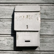 Traditional old mail box on the wooden wall — Stock Photo #17980289