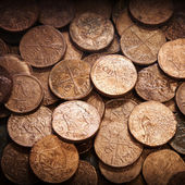 Old coins background texture — Stock Photo