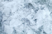 Detailed background ice fragments texture — Stock Photo