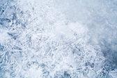 新鲜薄薄的冰面的详细的背景纹理 — 图库照片