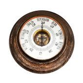 Big outdoor vintage barometer — Stock Photo