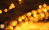 Abstact borrosa con luces naranja bokeh — Foto de Stock