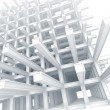 Stock Photo: 3d architecture light blue monochrome abstract. Modern white braced construction on white background