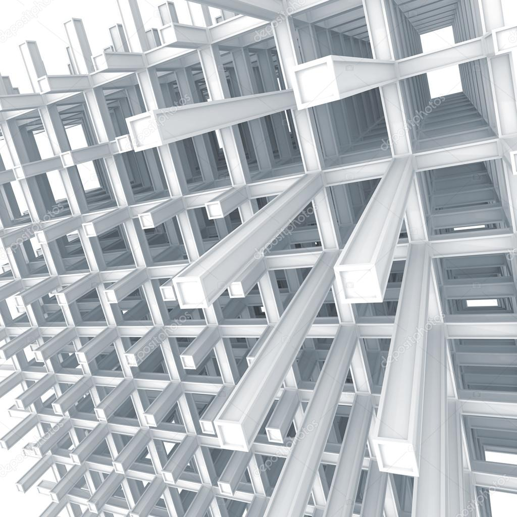 3d architecture light blue monochrome abstract modern for White 3d wallpaper