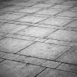 Background texture of gray tiled pavement city ground - Stock Photo