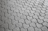 Background texture of gray city cobblestone road — Stock Photo