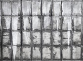 Azulejos de la pared concreto gris viejo textura de fondo — Foto de Stock
