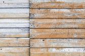 Starý zrezivělý vlnité kovové zdi pozadí textury — Stock fotografie