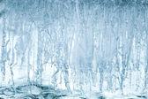 Textura de fondo de la superficie del hielo azul — Foto de Stock