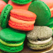 Colorful macaroons on the counter — Photo