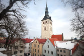 St. Nicholas Church in Tallinn, Estonia, Niguliste Museum — Stock Photo