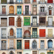 Clip-Art with big set of colorful wooden doors and gates from old town of Tallinn, Estonia — Stock Photo #25875083