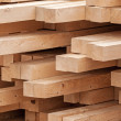 New wooden boards on a storage. Abstract background — Foto Stock