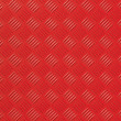 Red metal diamond plate photo background texture — Stock Photo
