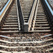 Modern railroad perspective. Industrial transportation background — Stock Photo #29597369