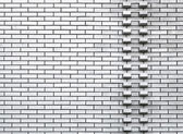 White wall background texture with two rows of protrusive bricks — Stock Photo