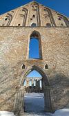 Ancient Gothic ruins of Pirita monastery in Tallinn, Estonia — Stock Photo