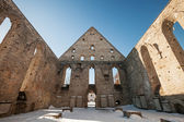 Ruined interior of St. Brigitta convent in Pirita, Tallinn, Estonia — Foto Stock