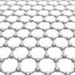Stock fotografie: Graphene layer structure schematic model. 3d illustration isolated on white