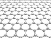 Graphene layer structure schematic model. 3d illustration isolated on white — Stock Photo