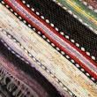 Norwegian handmade patchwork rug background texture — Stock Photo