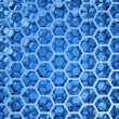 Blue shining honeycomb layers pattern. 3d illustration, background texture — Stock Photo