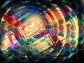 Colorful abstract creativity concept 3d background illustration — Стоковое фото