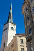 Church of St. Olaf in old Town of Tallinn, Estonia — Foto Stock