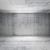 Abstract white interior of empty room with concrete walls — Stock Photo