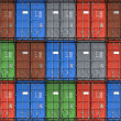 Colorful metal freight shipping containers seamless photo background texture — Stock Photo