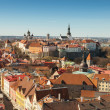 Aerial panorama on old town of Tallinn, Estonia — Stock Photo