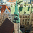 Aerial view on small bell tower of St.Olaf Church in Tallinn, Estonia — Stock Photo