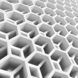 Abstract white double honeycomb structure. 3d illustration — Stock Photo