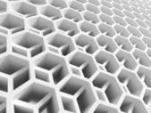 Resumen estructura de panal doble blanco. ilustración 3d — Foto de Stock