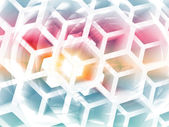 Abstract colorful background with white honeycomb structure — Stock Photo