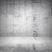Abstract white interior of empty room with concrete walls and floor — Stock Photo