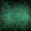 Abstract green digital screen with 3d technology background — Stock Photo
