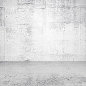 Abstract white empty interior with concrete wall and floor — 图库照片