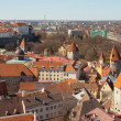 Aerial view on old fortress in Tallinn, capital city of Estonia — Stock Photo #33271707