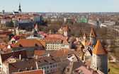 Aerial view on old fortress in Tallinn, capital city of Estonia — Stock Photo