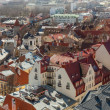 Aerial view on old town of Tallinn, capital city of Estonia — Stock Photo #33589927