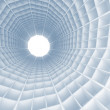 Abstract blue architecture background. Tunnel interior with cells — Stock Photo
