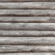 Wooden wall of rural house made of logs — Stock Photo