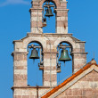 Bell tower of the Serbian Orthodox Church in the monastery Gradiste, Montenegro — Stock Photo #34813751