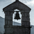 Small bell tower of the Serbian Orthodox Church. The monastery Gradiste, Montenegro — Stock Photo