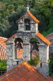 Small bell tower of the Orthodox Church. The monastery Gradiste, Montenegro — Stock Photo