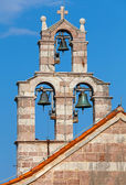 Bell tower of the Serbian Orthodox Church in the monastery Gradiste, Montenegro — Stock Photo