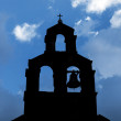 Stock Photo: Silhouette of SerbiOrthodox Church with bell in Petrovac, Montenegro