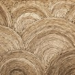 Natural round wicker pattern background texture — Stock Photo